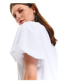 Biały t-shirt TOP SECRET na co dzień, casualowy
