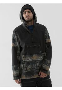 4f - Bluza snowboardowa z softshellu membrana 8 000 męska. Typ kołnierza: kaptur. Kolor: wielokolorowy. Materiał: softshell, dzianina, materiał. Sezon: zima. Sport: snowboard