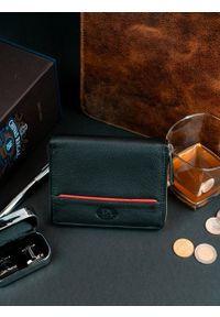 PIERRE ANDREUS - Skórzany czarny portfel męski RFID Pierre Andreus N31892. Kolor: czarny. Materiał: skóra