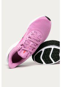Różowe buty sportowe Nike Nike Downshifter, na średnim obcasie, na sznurówki