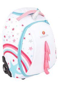 LittleLife walizka Children's Suitcase, 20l, unicorn. Kolor: biały, różowy, wielokolorowy. Materiał: guma. Styl: elegancki