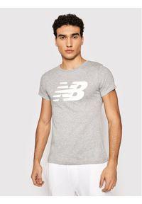 New Balance T-Shirt Nb Cl Fly NBWT0381 Szary Athletic Fit. Kolor: szary