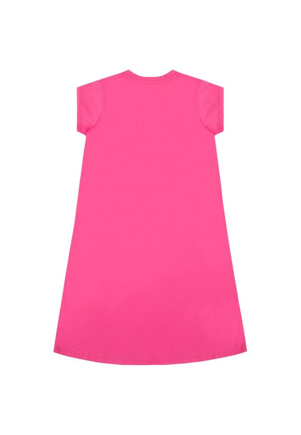 Różowa sukienka DKNY na co dzień, prosta