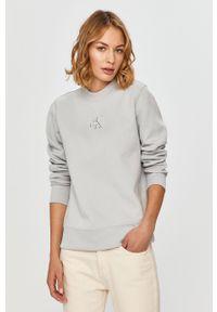 Szara bluza Calvin Klein Jeans długa, na co dzień