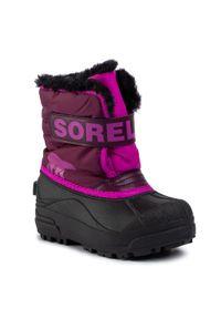 sorel - Śniegowce SOREL - Snow Commander NC1960 Purple Dahlia/Groovy Pink 562. Kolor: czarny, wielokolorowy, różowy. Materiał: skóra, skóra ekologiczna, guma, materiał. Szerokość cholewki: normalna. Sezon: zima, jesień