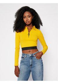 Guess Bluzka Arifa W0BP14 K86Z1 Żółty Slim Fit. Kolor: żółty