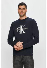 Niebieska bluza nierozpinana Calvin Klein Jeans casualowa, na co dzień, bez kaptura