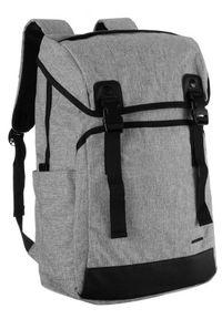 DAVID JONES - Plecak unisex j. szary David Jones PC037 L.GREY. Kolor: szary. Materiał: materiał