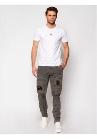 Aeronautica Militare Spodnie materiałowe 211PA1387CT1493 Szary Regular Fit. Kolor: szary. Materiał: materiał