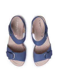 Niebieskie sandały Caprice casualowe, na co dzień