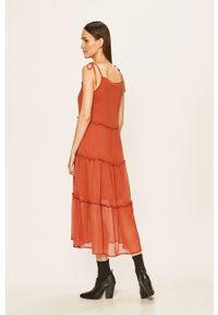 Sukienka Noisy may z okrągłym kołnierzem, prosta, maxi, na ramiączkach #5