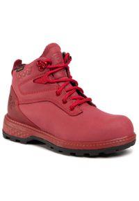 Czerwone buty trekkingowe Jack Wolfskin trekkingowe