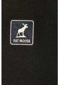 Czarna kurtka Fat Moose bez kaptura, casualowa, na co dzień