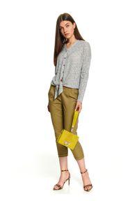 Fioletowe spodnie TOP SECRET z podwyższonym stanem