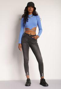 Renee - Czarne Jeansy Skinny Pirecia. Kolor: czarny