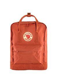 Czerwony plecak Fjällräven z aplikacjami, klasyczny