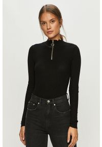 Czarny sweter Brave Soul z długim rękawem, krótki