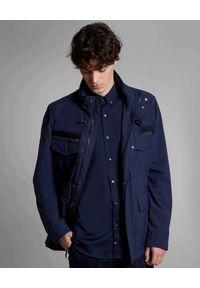 FAY - Granatowa kurtka z kieszeniami. Kolor: niebieski. Materiał: tkanina