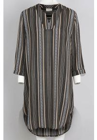 Freequent Dłuższa tunika w paski Bea Czarny w paski female czarny/ze wzorem M (40). Kolor: czarny. Materiał: wiskoza. Wzór: paski
