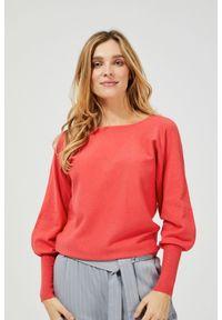 Sweter MOODO z długim rękawem, gładki, długi