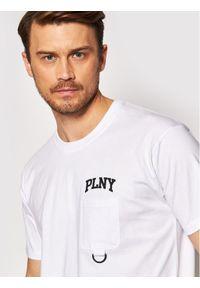 PLNY Textylia T-Shirt Stanford 00003 Biały Regular Fit. Kolor: biały