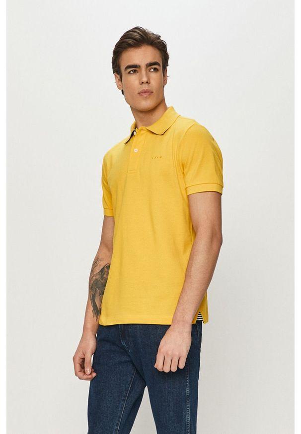 Żółta koszulka polo Geox na co dzień, casualowa, polo, krótka