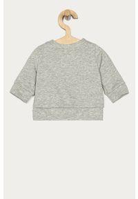 Szara bluza GAP bez kaptura, z nadrukiem, casualowa, na co dzień