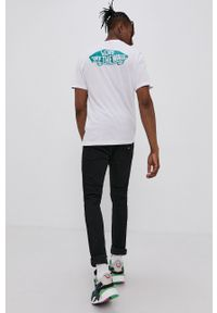 Vans - T-shirt bawełniany. Kolor: biały. Materiał: bawełna. Wzór: nadruk