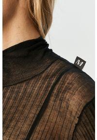 Czarny sweter Miss Sixty klasyczny, z golfem, długi, z długim rękawem