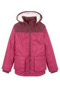 Różowy płaszcz bonprix na zimę