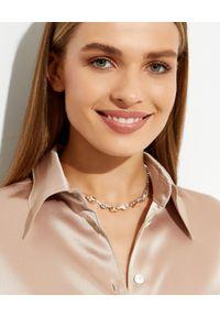 CAROLINE SVEDBOM - Naszyjnik z kryształami Corinna. Materiał: złote. Kolor: srebrny. Wzór: aplikacja. Kamień szlachetny: kryształ