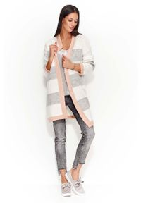 Sweter Makadamia w paski, długi