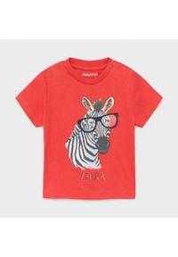 Mayoral T-Shirt 1001 Czerwony Regular Fit. Kolor: czerwony