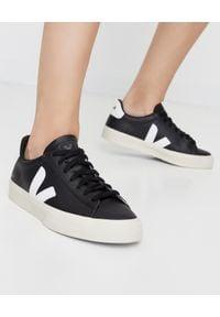 Veja - VEJA - Czarne sneakersy Campo. Kolor: czarny. Materiał: dresówka, guma