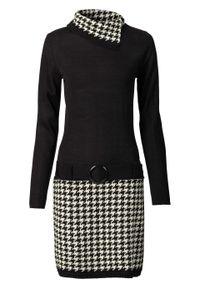 Czarna sukienka bonprix na zimę, casualowa, z golfem