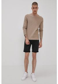 Jack & Jones - Szorty jeansowe. Okazja: na co dzień. Kolor: czarny. Materiał: jeans. Styl: casual