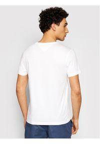 TOMMY HILFIGER - Tommy Hilfiger T-Shirt Logo Box MW0MW16583 Biały Regular Fit. Kolor: biały