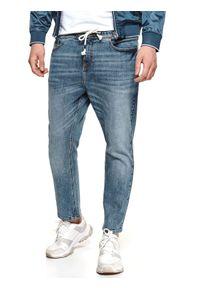 Niebieskie spodnie TOP SECRET długie, casualowe