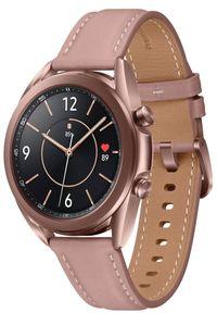 SAMSUNG - Samsung Galaxy Watch 3 (41 mm) Bronze. Kolor: brązowy. Materiał: skóra. Styl: sportowy, militarny