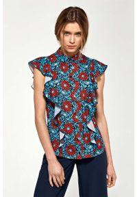 Bluzka koszulowa Nife na lato, w kwiaty