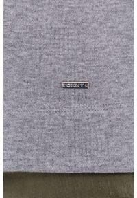 DKNY - Dkny - Bluza. Okazja: na co dzień. Kolor: szary. Materiał: koronka. Długość rękawa: długi rękaw. Długość: długie. Styl: casual