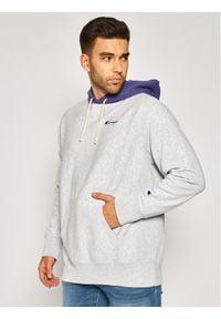 Champion Bluza Contrast Hood Reverse Weave Hoodie 215164 Szary Regular Fit. Kolor: szary