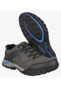 Casu - Szare buty trekkingowe sznurowane casu mxc7707. Kolor: niebieski, wielokolorowy, szary