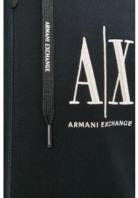 Niebieska bluza rozpinana Armani Exchange z kapturem, z aplikacjami #5