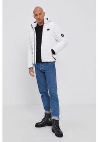 Pepe Jeans - Kurtka Hiram. Okazja: na co dzień. Typ kołnierza: kaptur. Kolor: biały. Styl: casual