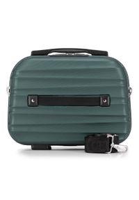 Wittchen - Kosmetyczka podróżna z ABS-u z żebrowaniem. Kolor: zielony