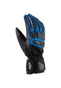 Viking - Rękawice narciarskie Coach Racing Niebieskie. Kolor: czarny, wielokolorowy, niebieski. Materiał: skóra, materiał. Sport: narciarstwo