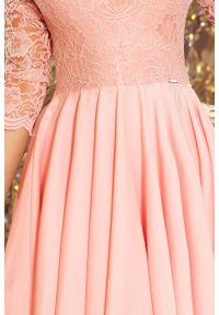 Sukienka wieczorowa Numoco w koronkowe wzory, na ślub cywilny