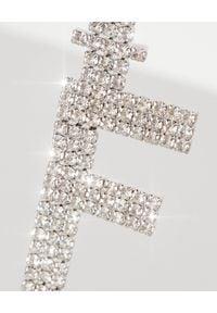 RETROFETE - Kolczyk z cyrkoniami F. Materiał: srebrne. Kolor: srebrny. Kamień szlachetny: cyrkonia
