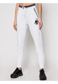 Białe spodnie dresowe Aeronautica Militare